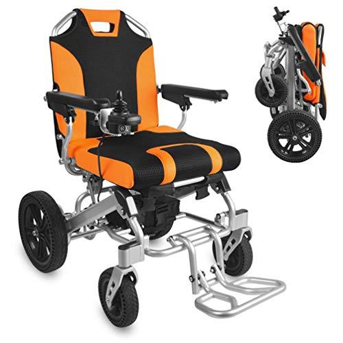 L-Y Leichter Zusammenklappbarer Rollstuhl für Ältere Menschen Praktischer Elektrorollstuhl, Polymer-Lithium-Ionen-Akku 20 Ah, Geeignet für Ältere und Behinderte Menschen -