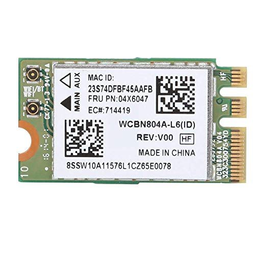 LEGRF 5G-Dualband Wireless-Netzwerkkarte for Qualcomm Atheros QCNFA34AC 867m Bluetooth 4.0 Fit geeignet for Lenovo B50-80 E460 E560 Yoga 500-Serie Netzwerkadapterkarte