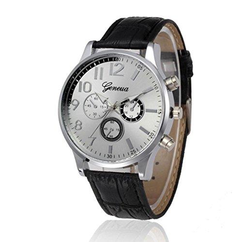 Orologio da polso uomo - quadrante quarzo militare orologio da uomo in pelle guardare orologi sportivi di alta qualità orologio da polso morwind (nero)