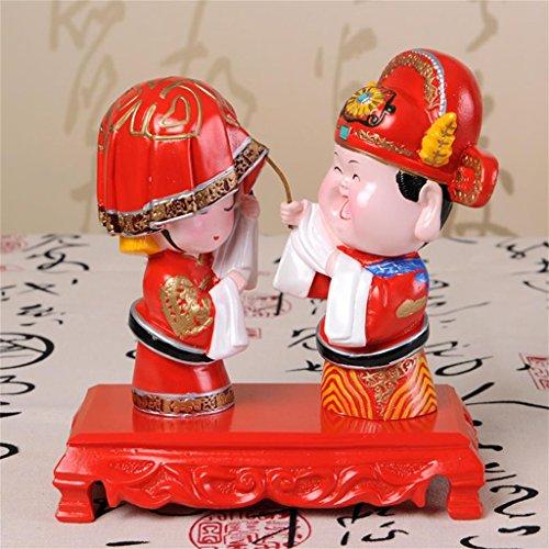 DELLT- casa cinese stanza di unione ornamenti decorativi in   stile cinese sposa rosso regali di nozze bambola regalo di nozze ornamenti decorazioni Figure Decoration ( stile : # 3 )