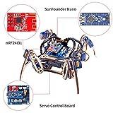SunFounder Remote Control Crawling Quadruped Robot Model V2.0 DIY Wooden
