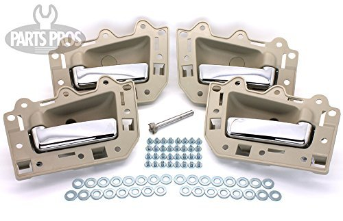 Preisvergleich Produktbild LatchWell PRO-4001700 Interior Door Handle Set With Install Kit in Light Beige & Chrome for Jeep Grand Cherokee by LatchWell