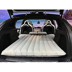 Colchón inflable TeslaWorld Car Travel Colchón de aire Asiento trasero Cojín de aire con 2 almohadas de aire (modelo X 6 plazas)