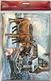 Advent Calendar (MED7838) Donkeys At The Water Trough - Flittered Finish