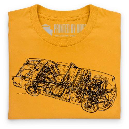 Triumph Spitfire Cutaway T-Shirt, Herren Gelb