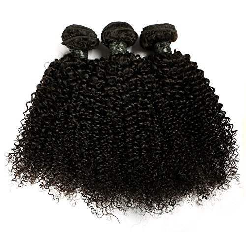 "BLISSHAIR Lot de 3 Bresilienne Virgin Hair Baby Deep 8"" court cheveux Bresilienne vierges de Tissages Lot de 150 g/Extensions de cheveux Humains"