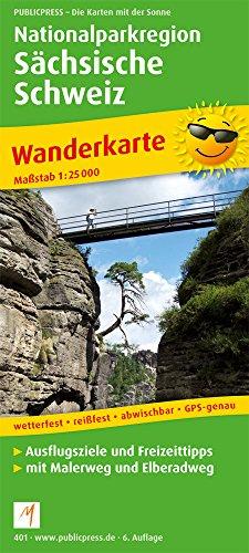 Preisvergleich Produktbild Nationalparkregion Sächsische Schweiz: Wanderkarte mit Malerweg und Elberadweg, wetterfest, reissfest, abwischbar, GPS-genau. 1:25000 (Wanderkarte / WK)