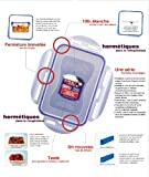 from Lock & Lock Lock & Lock Rectangular Storage Container with 3 Compartments - Clear/Blue, 1 L Model HPL817C