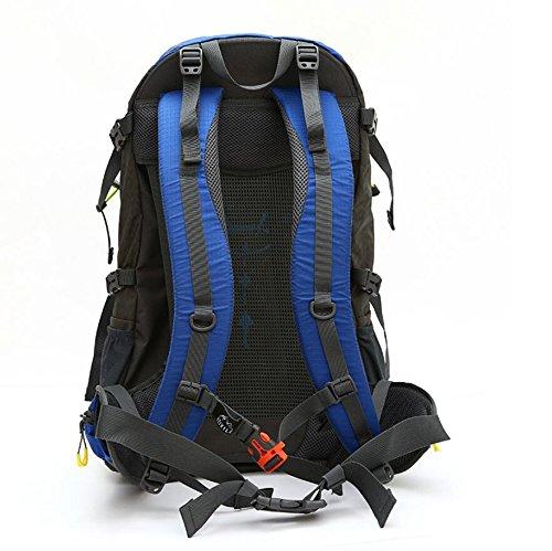 LF&F 50L GroßE KapazitäT Outdoor Sport Rucksack Wasserdichte Hochwertige Nylon-Bergsteigen Tasche Reise GepäCk Tasche Schultergurt Einstellbar SchüLer Tasche D