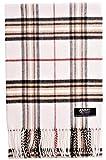 ADAMANT Damen Schal | Made in Germany | Weiß Karo Muster