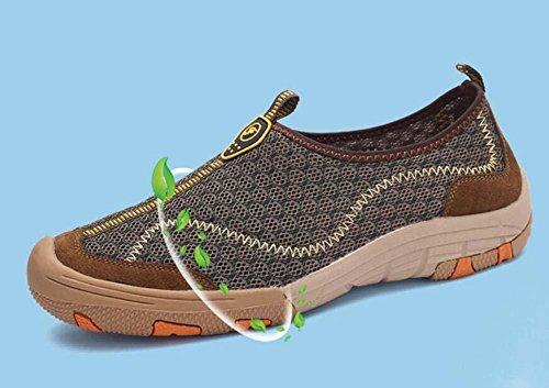 Pump Slip On Loafer Net Garn Mesh Sandalen Casua Schuhe Männer Breathable Hollow Wanderschuhe Pedal Schuhe Sneker Sport Schuhe Fahrschuhe Lazy Schuhe Eu Größe 38-44 Grey