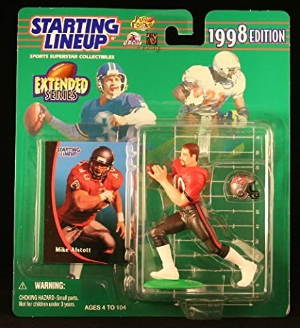 MIKE ALSTOTT / TAMPA BAY BUCCANEERS 1998 NFL * EXTENDED SERIES * Starting Lineup Action Figure & Exclusive NFL Collector Trading Card by Starting Line Up