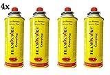 LGVSHOPPING Set 4 Cartucce con Valvola Butano Gas Flaminaire Cucina Campeggio Bombola 220Gr - 390 Ml