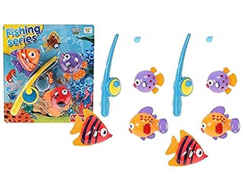 Premium jeu de pêche pour Baby & Enfants–Angel et poissons–Pêche Jeu kinderangel Bath Toy Jouet Amusant pour baignoire bain & Pataugeoire