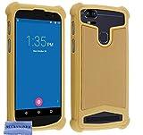 AccessOne Coque Universelle Smartphone Etui Housse Pochette Compatible pour KLIPAD V356 4G LTE (5' Pouces ecran18:9) (Coque Or)