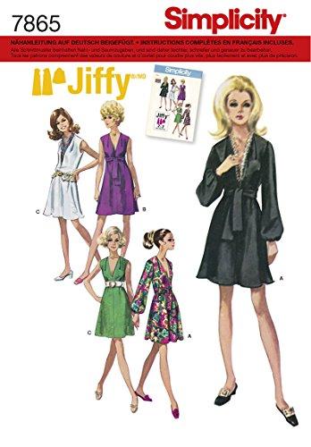 Simplicity S7865.R5 Patron de Couture Robe vintage, Papier, Blanc, 21 x 15 x 1 cm