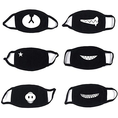 6 Stück Baumwolle Masken, Unisex Wiederverwendbar Mundschutz, Anti-Beschlag Maske, Kälteschutz Gesichtsmaske, Unisex Wiederverwendbar Kawaii Für Männlich Frau Von Proacc ()