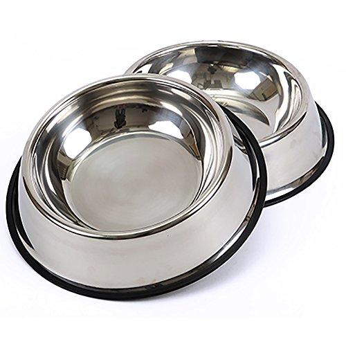 Hundenapf Edelstahl Food Bowl Hundefutter Pet Produkte, Größe Optional. (größe : Xl) (Angst Hundefutter)