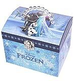 Trousselier 90431 Schmuckkästchen, Disney-Motiv'Frozen - Die Eiskönigin' Spieluhr mit Perlengriff, Spieldose, Musikdose, Schmuckschatulle, X-Groß
