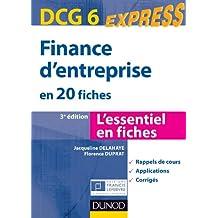 Finance d'entreprise - DCG 6 - 3e éd. - en 20 fiches