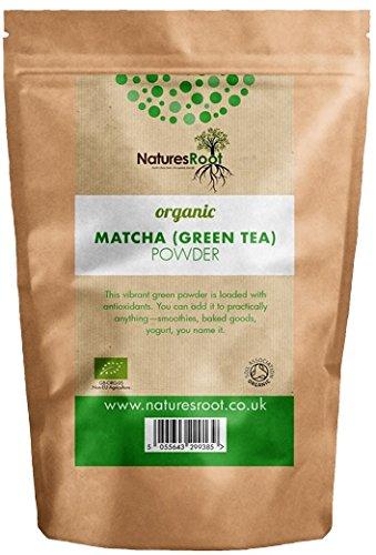 Natures Root Polvere Matcha (Tè Verde) Biologico 60g - Grado Cerimoniale   ACCELERATORE METABOLISMO   TÈ ANTIOSSIDANTE   AUMENTA LA MEMORIA
