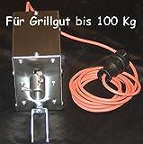 FK Grillmotor bis 100Kg Grillgut 2,1 U/Min im Edelstahlgehäuse > 30Nm Mit Silikonkkabel -40 bis 180 Grad +