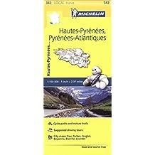 Hautes-Pyrenees, Pyrenees-Atlantiques, France Local Map 342 (Mapas Local Michelin)