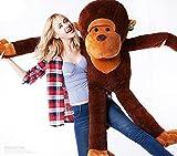 Peluche de felpa gigante perfecto para regalo de cumpleaños, diseño de mono