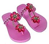 Designer Luxus Flip Flops-Chanclas Exclusivas by Simone Herrera-Glamourous Line-Bella-Riemchen Sandale Zehentrenner (37/38)
