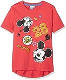 Disney Mickey 173767, T-Shirt Garçon Rouge (Taille Fabricant:8 Ans)
