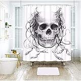 hysxm Tenda per Doccia Impermeabile Hydra Halloween Foto 3D Stampa Asw484-160(H)*180(W) Cm