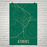 Modern Map Art Athen Poster, Athen Kunstdruck, Athen Wandkunst, Athen Karte, Athen Stadtplan, Athen Griechenland Stadtplan Kunst, Athen Geschenk, Athen Dekor, (12