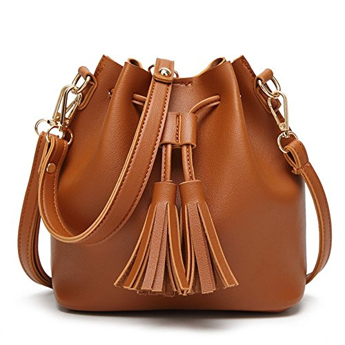 B-B Fashion Unique Tassel Tote Handbag Shoulder Small Bag For Girls (Rolling Tasche Weekender)