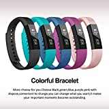 Fitness Tracker Lintelek Slim Activity Tracker Step Counter With Sleep Monitor Alarm And Message Reminder Waterproof Bluetooth Pedometer Smart Watch For Android Or IOS Phone