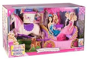 Barbie w3895 cal che f erique avec cheval couchages - Caleche barbie ...