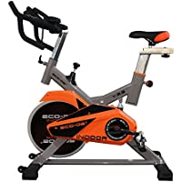 ECO-DE Bicicleta Spinning Indoor. Uso semiprofesional con pulsómetro, Pantalla LCD y Resistencia