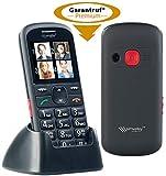 simvalley communications Seniorentelefon: Komfort-Handy mit Garantruf Premium, Bluetooth und 5,6-cm-Farb-Display (Notruf Handys mit Lupe)