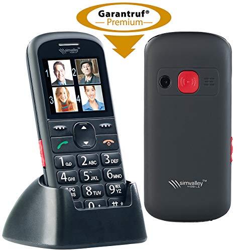 simvalley communications Großtasten Handy: Komfort-Handy mit Garantruf Premium, Bluetooth und 5,6-cm-Farb-Display (Notruf Handys mit Lupe)