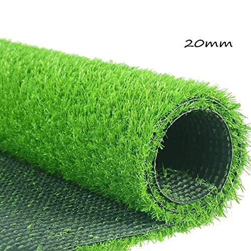 Lhl Kunstrasen Mat Outdoor Garden Dogs Pet Gummi Gesichert (Color : Pile Height 20mm, Size : 1m*1m) - Teppich Wieder Läufer Gummi