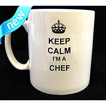 Keep Calm and Carry on Mug Du Chef