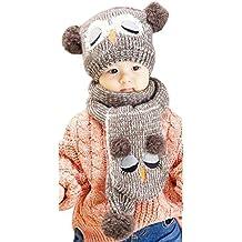 Vovotrade® Berretto invernale capretti del bambino palle caldo del Beanie del cappello + sciarpa