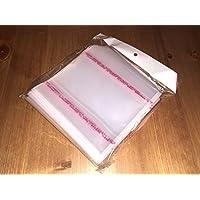 Globaldisc 100 Fundas Adhesivas CD/DVD/BLU-Ray,10 Micras de Grosor,Lisas,Solapa,Transparentes,Fabricadas en PP Polipropileno (Mejor Que PVC) y Resistentes. Sobres Plastico Mádori
