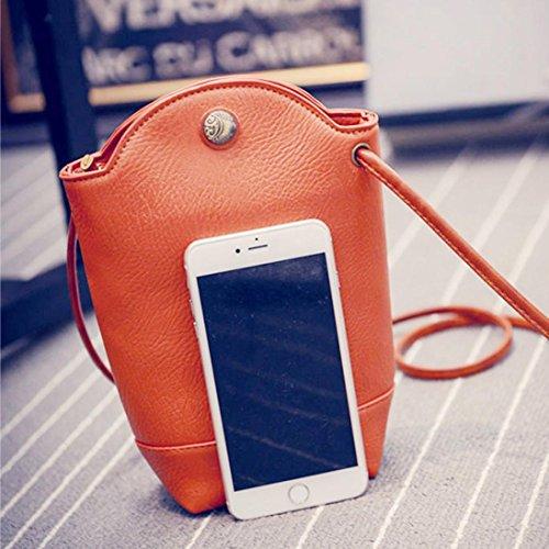Sansee Damen Klein Schultertaschen Frauen Messenger Bags Schlank Crossbody Handtasche Kleine Körper Taschen Orange