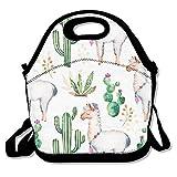 USYCHATS Wiederverwendbar Weich Lunch Tote Verstellbarer Schultergurt für Schule Arbeit Büro, Kaktus Pflanze