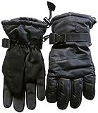 NICE CAPS Erwachsene Herren Thinsulate und Wasserdicht HIGH PERFORMANCE SKI Handschuh L/XL, Schwarz, Schwarz, Small / Medium
