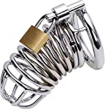 FeiGu Male Stainless Steel Gabbie per Pene Chastity Cage Device 1 (45mm Ring) immagine