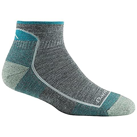 Darn Tough Vermont Women's 1/4 Cushion Socks, Slate, Small