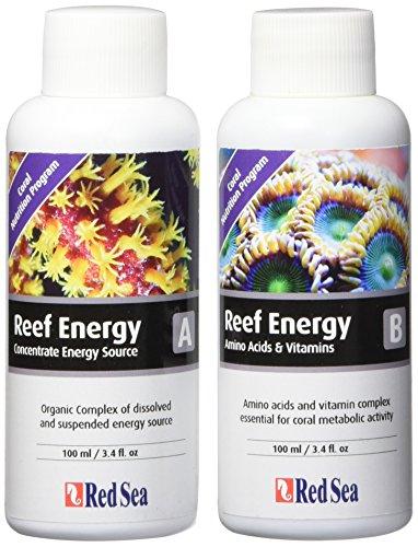 Red Sea Fish Pharm are220802er Pack Reef Energy A und B Nahrungsergänzungsmittel für Aquarium, 100ml-Verpackung kann variieren -