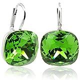 Ohrringe mit Kristallen von Swarovski Silber Grün NOBEL SCHMUCK