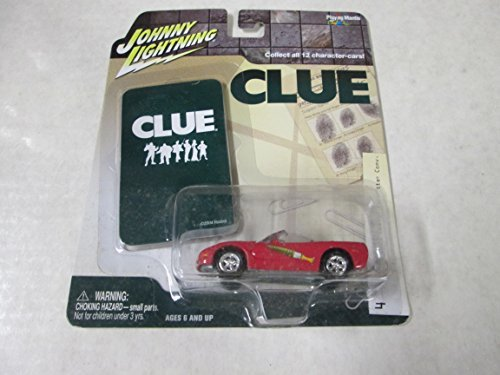 Johnny Lightning Clue Miss Scarlet 2003 Chevy Corvette Conv. #4 Hot Pink by Chevy